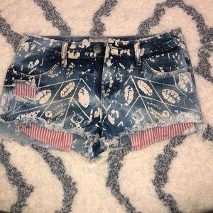 Free People BOHO Denim Shorts